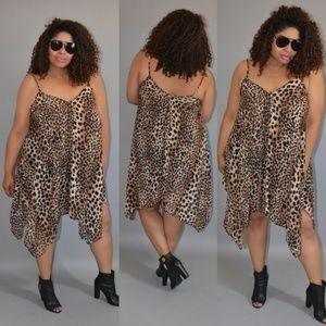 Brown Zebra Print Dress